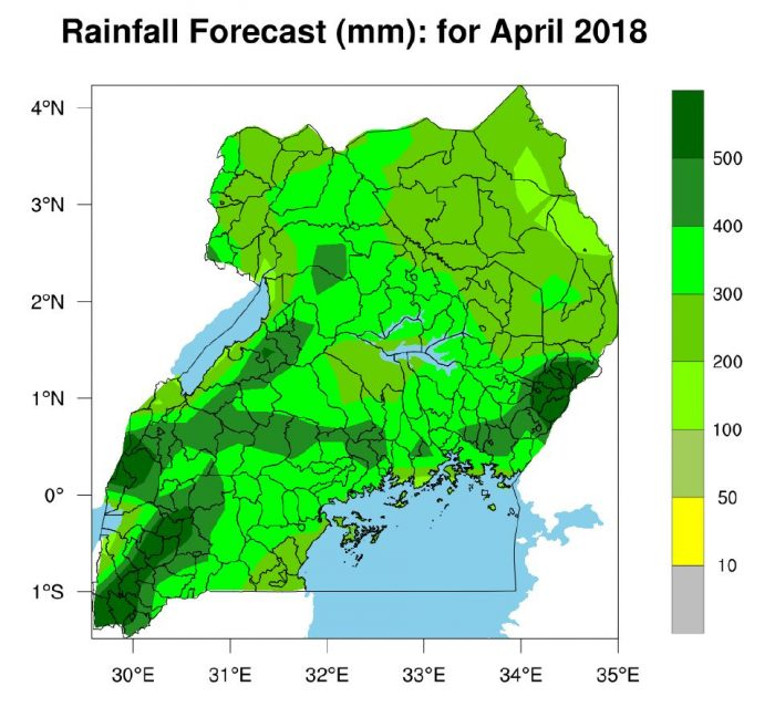 Rainfall Update for April 2018